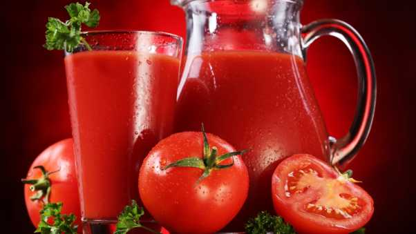 juice, tomatoes, glass