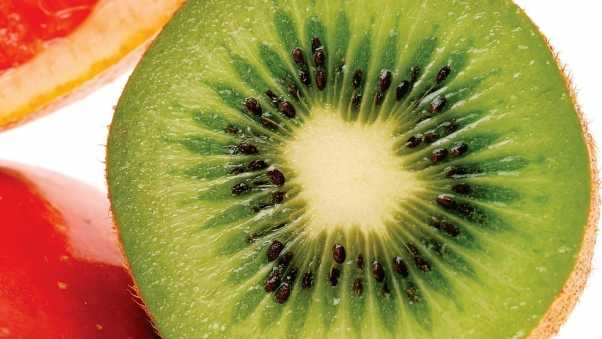 kiwi, grapes, fruit