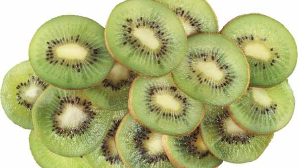 kiwi, slices, cut