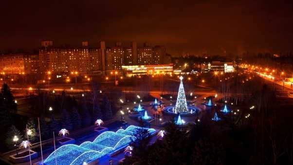krivoy rog, night city, new year