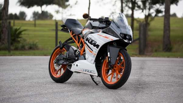 ktm, motorcycle, side view