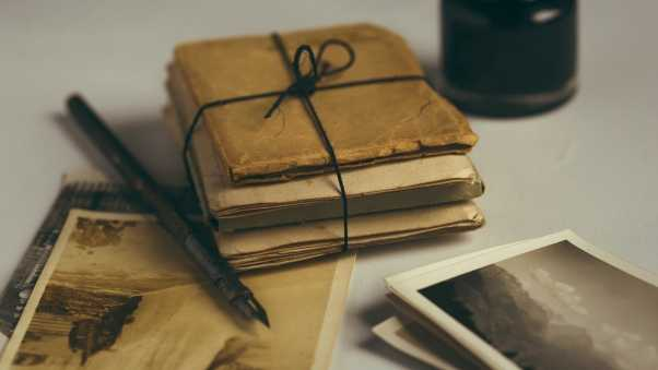 letters, ink, quill