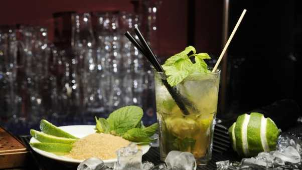 lime, mojito, drink