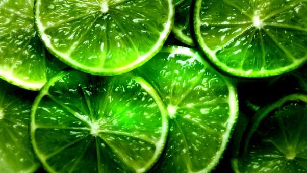lime, segments, slices
