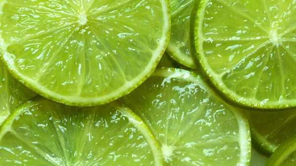 lime, wedges, green