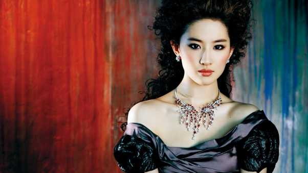 liu yifei, asian, dress