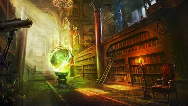 magic, ball, library