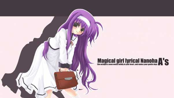 mahou shoujo lyrical nanoha as, girl, pose