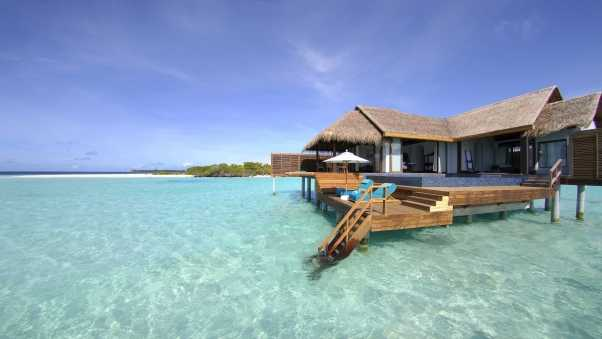 maldives, tropical, bungalows