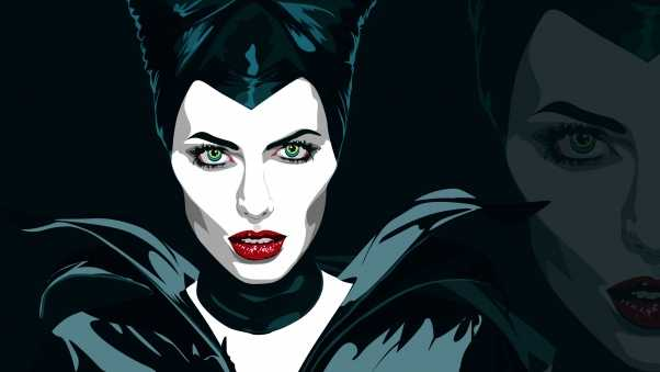 maleficent, angelina jolie, art