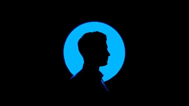 man, profile, silhouette