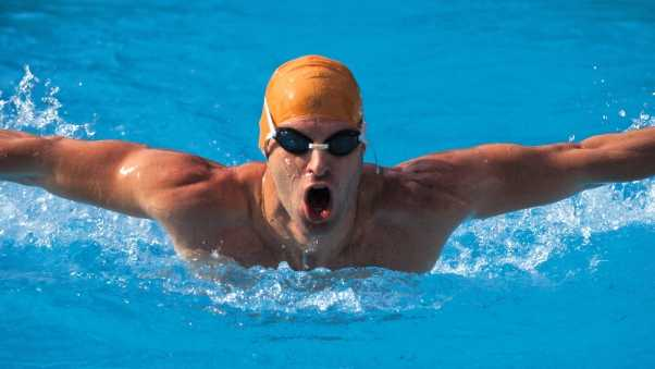 man, swimmer, movement
