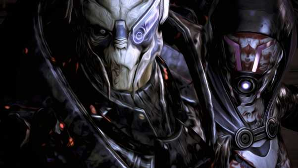 mass effect, garrus, tali
