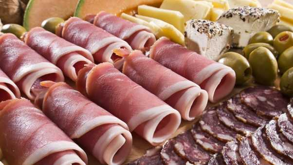 meat, rolls, cheese