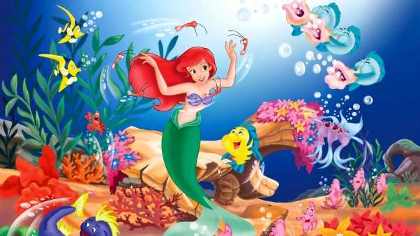 mermaid, cartoon, underwater