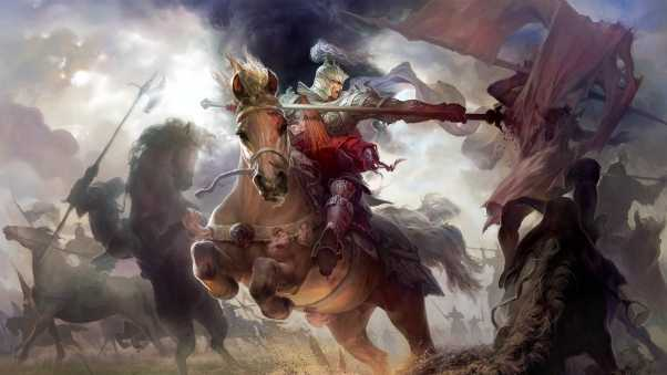 might and magic heroes, horse, warrior