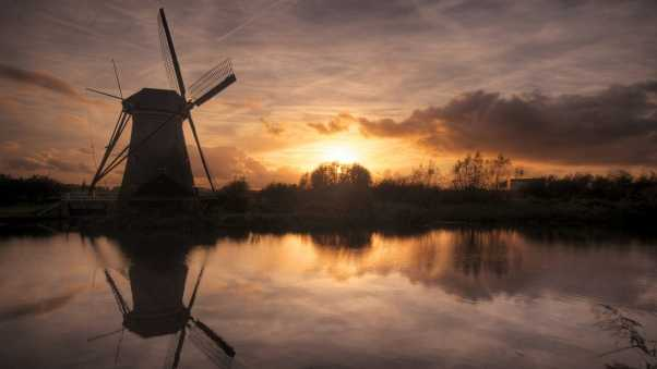 mill, decline, evening