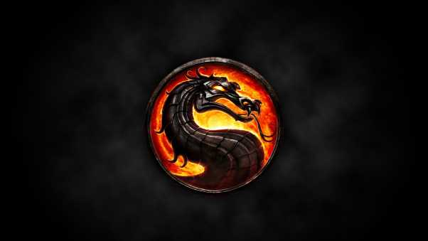 mortal kombat, dragon, circle