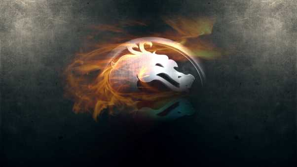 mortal kombat, dragon, fire