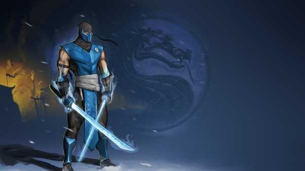 mortal kombat, sub-zero, swords