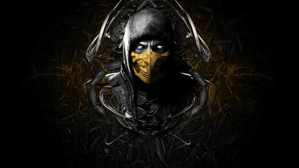 mortal kombat x, scorpion, face