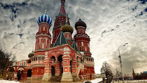 moscow, cloud, st basils cathedral