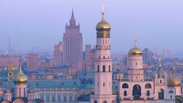 moscow, dawn, building