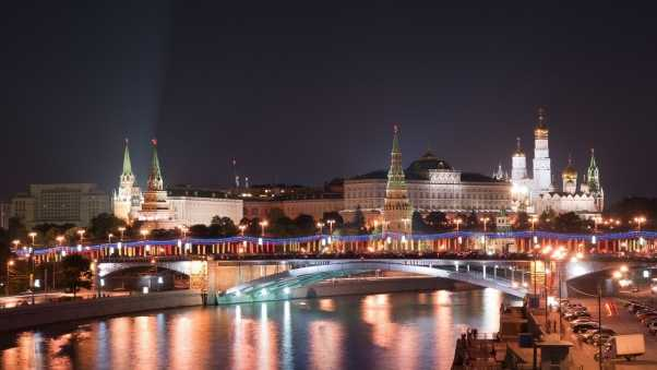 moscow, lights city, red area