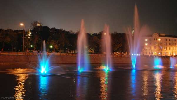 moscow, river, fountain