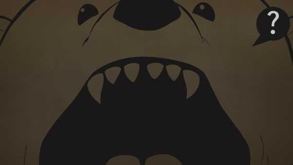 mouth, canines, bear