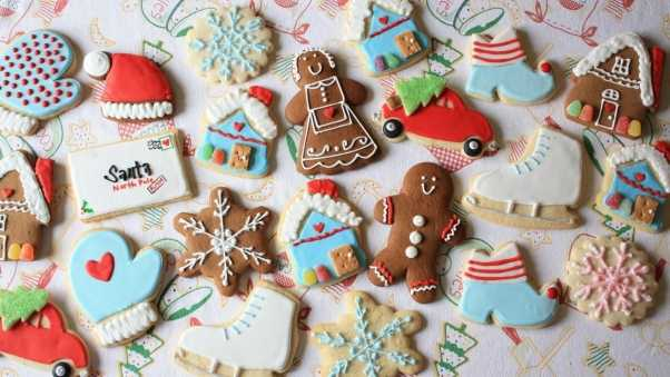 new year, christmas, cookies