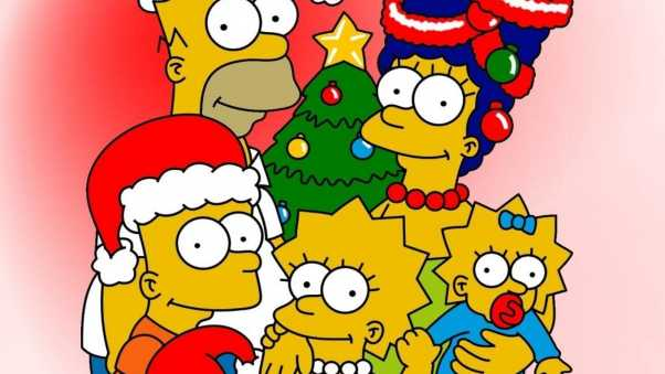 new year, christmas, simpsons