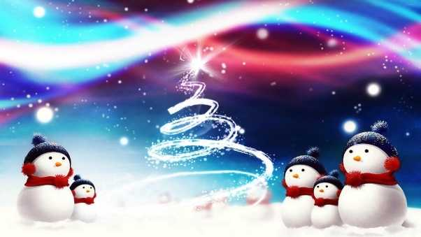 new year, christmas, snowmen