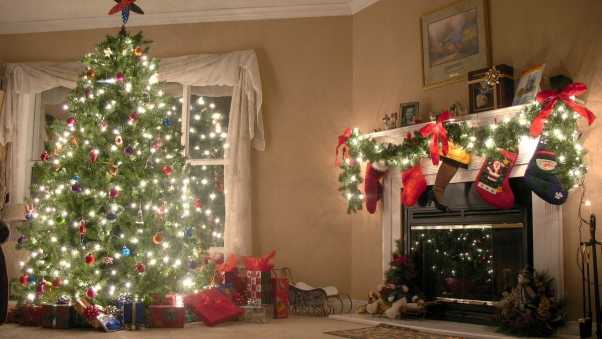 new year, christmas tree, decorations
