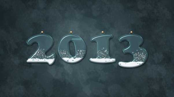 new year, numbers, snow