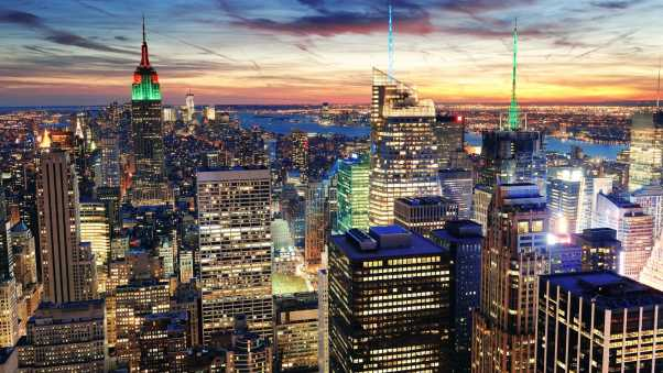 new york, city, top view