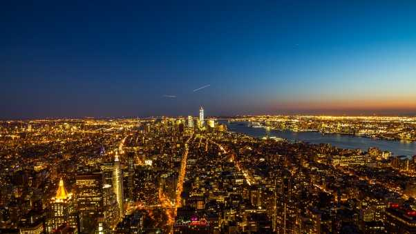 new york, usa, night city