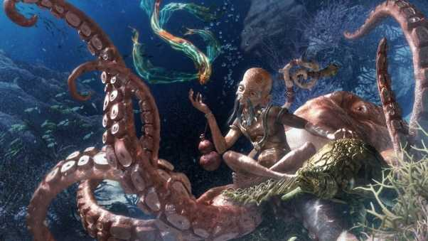 octopus, under water, beings
