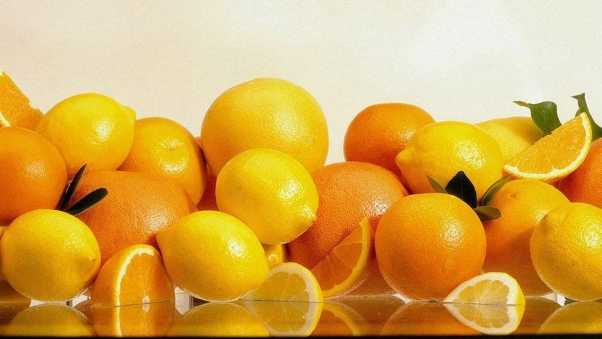 oranges, grapefruits, lemons