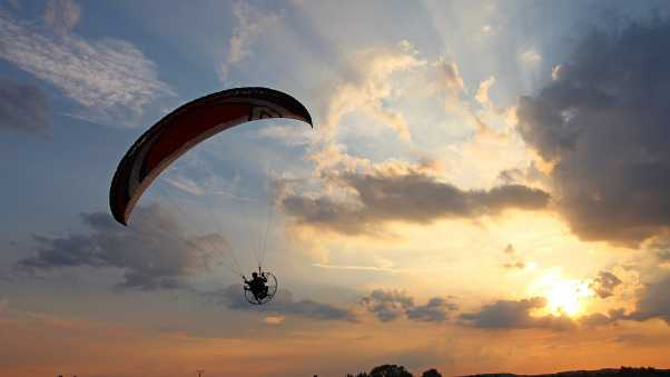 paraglider, flight, sky