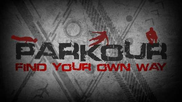 parkour, inscriptions, drawings