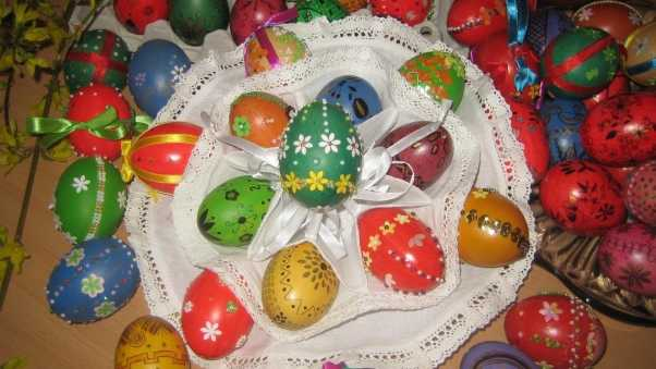 pascha, eggs, dyed