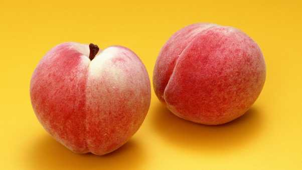 peach, fruit, couple