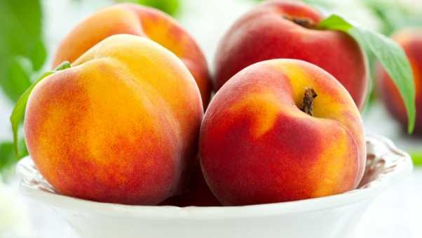 peaches, fruit, ripe
