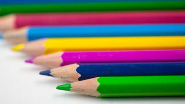 pencils, colorful, sharpened