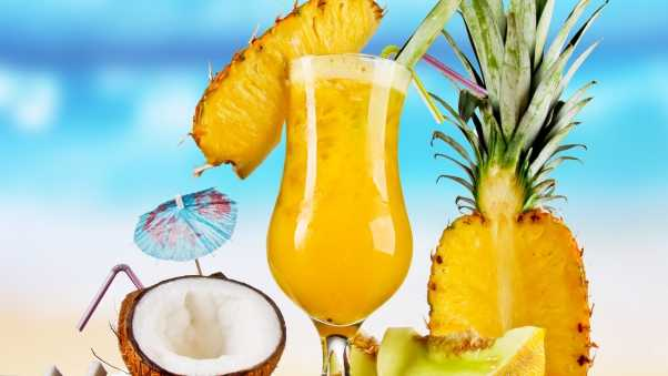 pineapple, coconut, cocktail