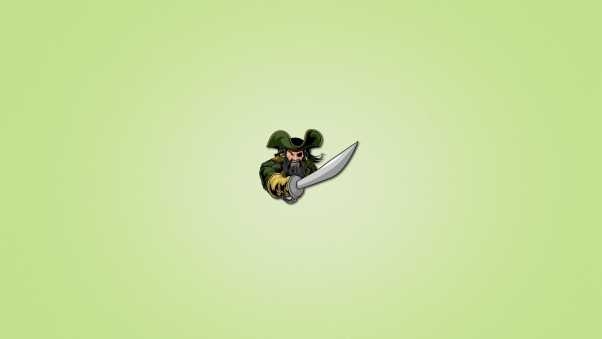 pirate, light green background, sword