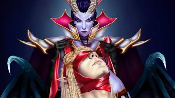 queen of pain, invoker, dota 2