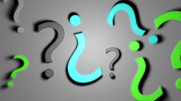 question marks, background, signs