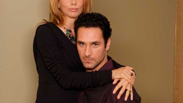 raoul bova, brunette, couple